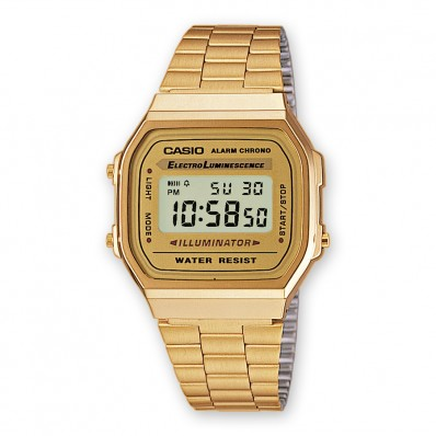 montre casio unisex or