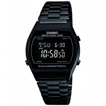 montre casio metal noir