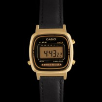 montre casio or bracelet cuir