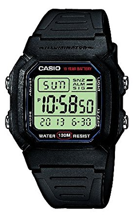 Casio Collection Montre Homme Digitale avec Bracelet en Résine – W-800H -1AVES