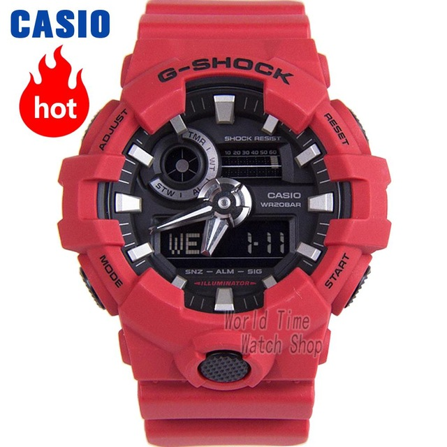 Montre Casio G-SHOCK grand cadran double spectacle sportif hommes de montre GA-700