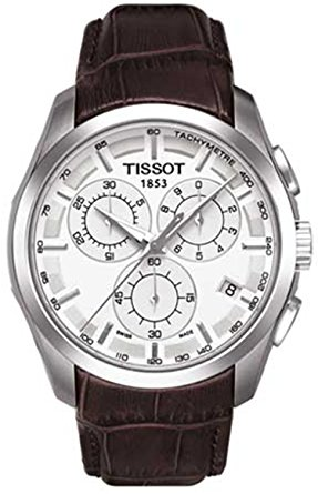 T0356171603100 Tissot Men's Couturier Silver Stainless Steel Chronograph Watch With Brown Leather Band